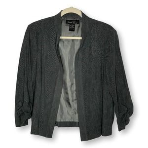 Brandon Thomas Snakeskin Jacket Blazer Large